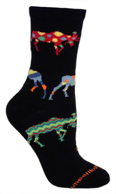 Crazy Moose Black Sock - Large