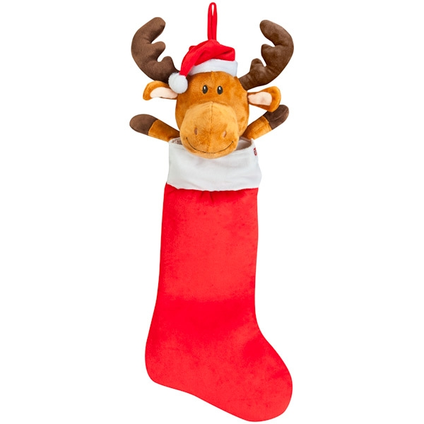 Musical Animated Moose Stocking