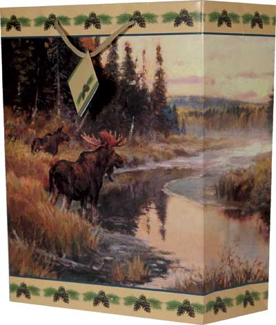 Gift Bag - Moose by the River