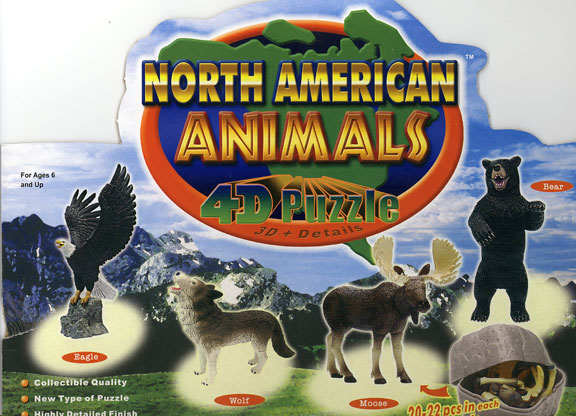 Set of 4 - 4D Animal Puzzles