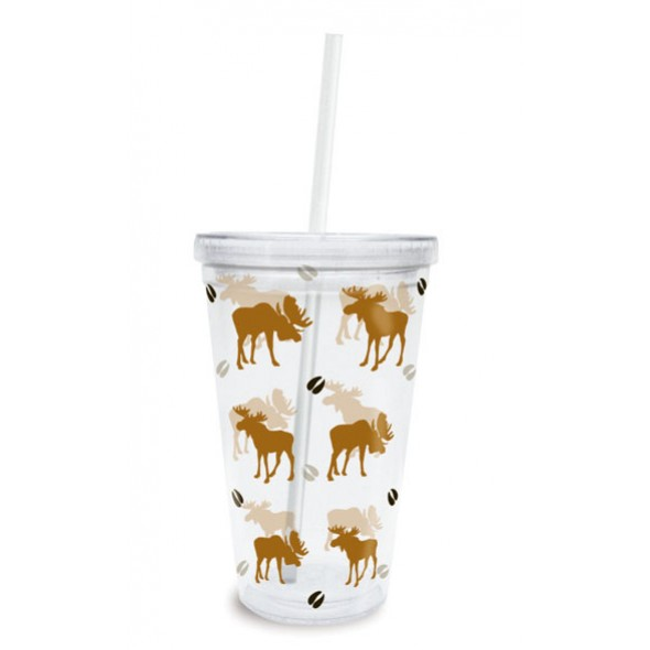 Clear Tumbler with Straw