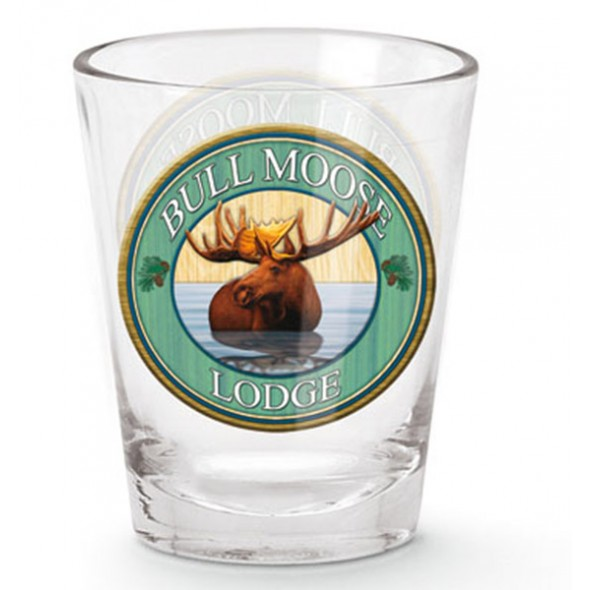 Bull Moose Shot Glass - Click Image to Close