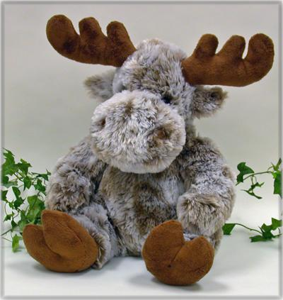 "18"" Sitting Moose, Frosty Softy - Click Image to Close"