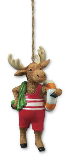 Retro Moose in a Bathing Suit Ornament