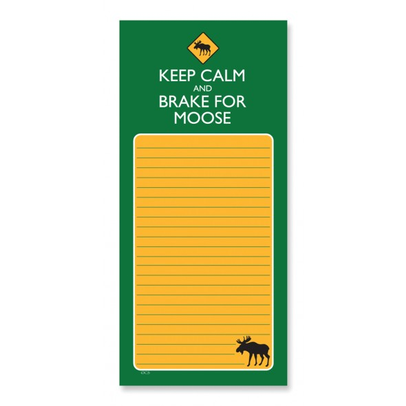 Magnetic Pad Keep Calm & Brake for Moose - Click Image to Close