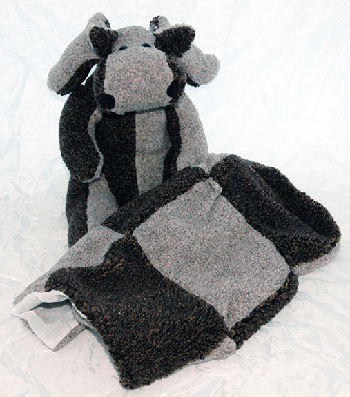 Adopt a Moose - Brown & Gray with Matching Blanket