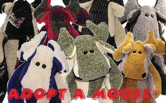 Adopt a Moose - Mystery Moose with Matching Blanket