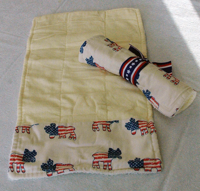 American Moose Baby Burp Cloth