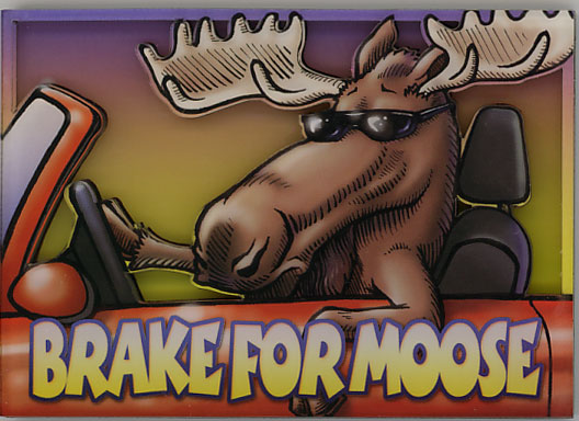 Brake for Moose Stylish Magnet