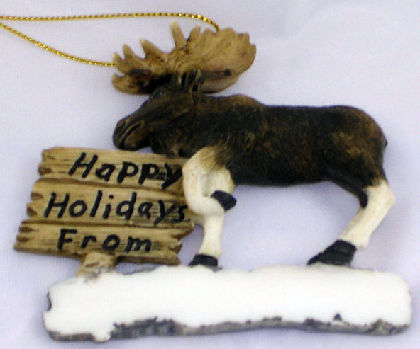 Moose Full Body Ornament from Barto Collectibles
