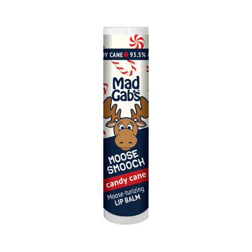Mad Gab's Candy Cane Moose Smooch Stick Lip Balm