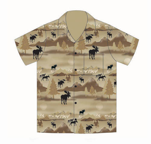Silhouette Moose Camp Shirt - Extra Large
