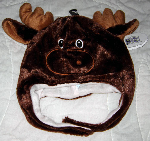 Toddler Size Moose Head Wrap Hat