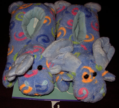 Adult Blue Swirl Ultra Plush Wrap Slippers