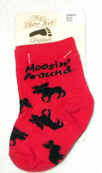 Red Infant's Moosin' Around Socks