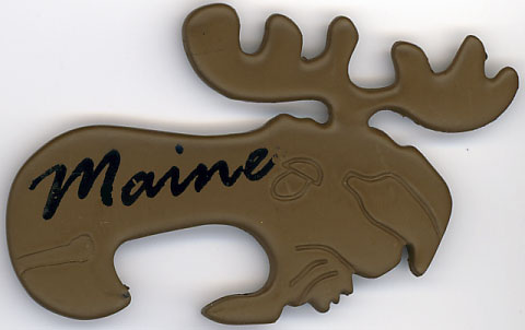 Magnetic Maine Moose Bottle Opener