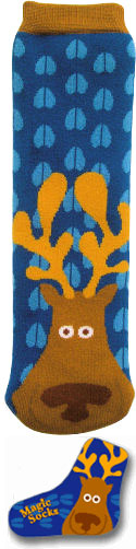 Blue Magic Moose Socks!