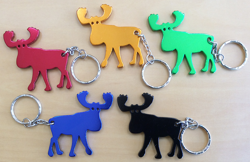Aluminum Moose Key Chain - Blue
