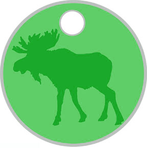 Spirit of the Moose Pathtag Key tag
