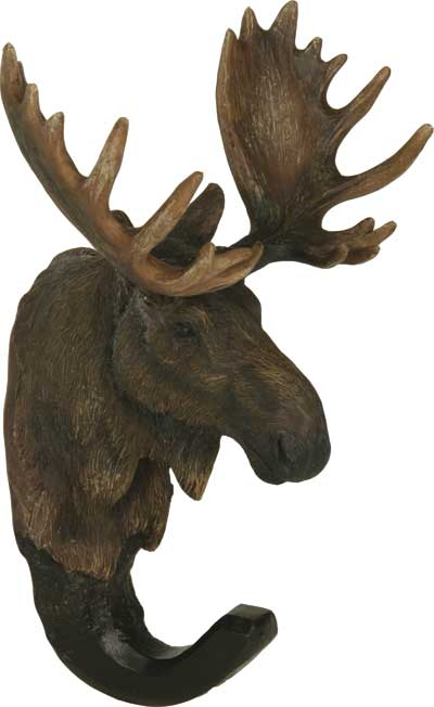 Poly Resin Moose Head Hook