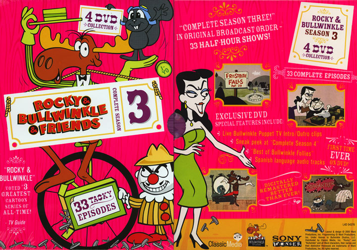 Bullwinkle & Friends Complete Season 3 DVD
