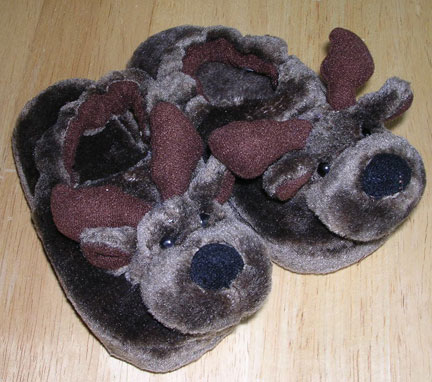 Small Brown Child's Slipper
