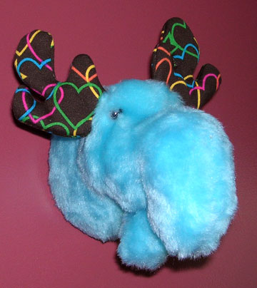 Blue Sunny the Tiny Moose Mount