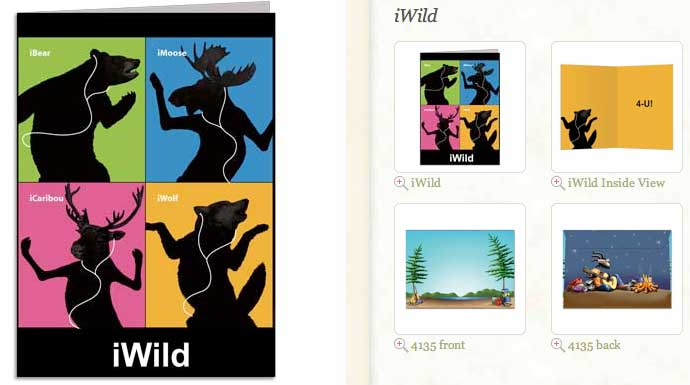 iWild... Greeting Card