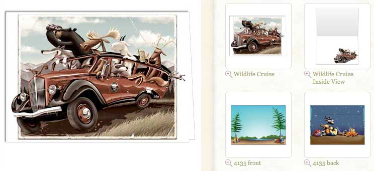 Wildlife Cruise... Blank Greeting Card