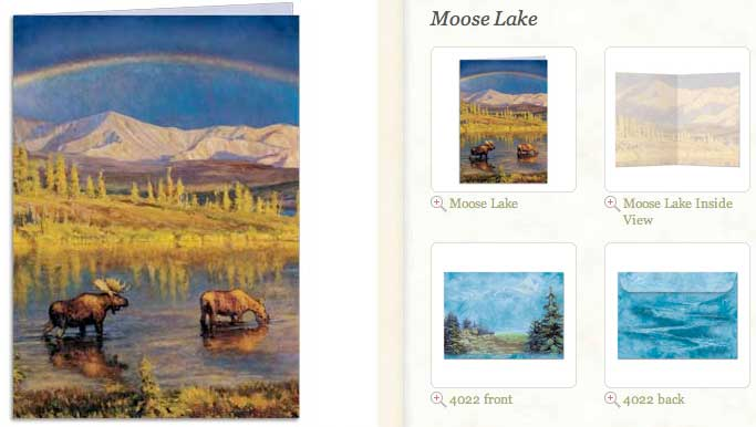 Moose Lake Blank Greeting Card
