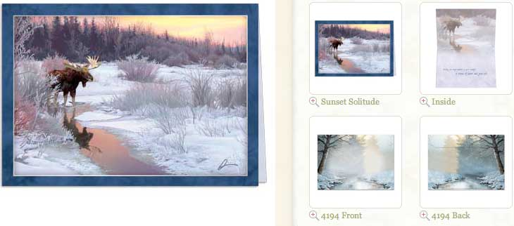 Sunset Solitude... Holiday Greeting Card