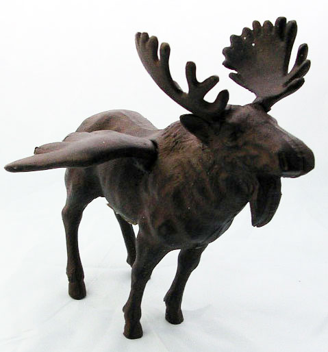 Cast Iron Flying Moose