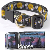 "3/4"" Inch Fifth Avenue Collar with Moose Pattern"