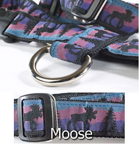 "3/4"" Inch Pet Harness with Moose Pattern"
