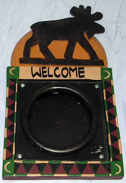 Rustic Moose Welcome Knocker