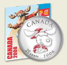 2008 Canada Moose Quarter Collectors Kit