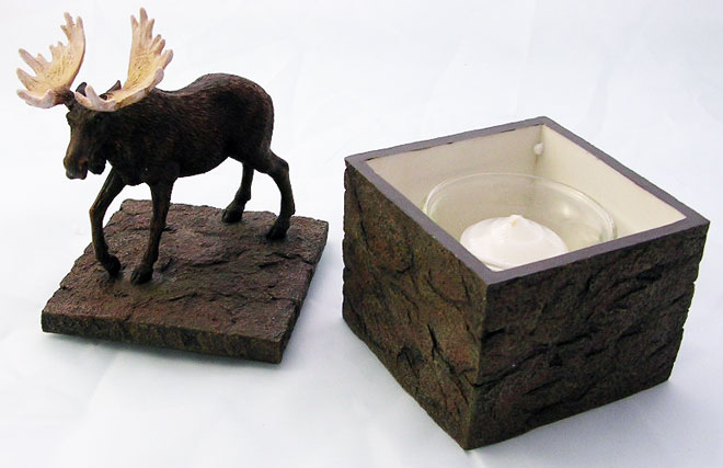Walking Moose Candle Box