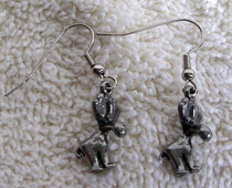 Pewter Moose Earrings