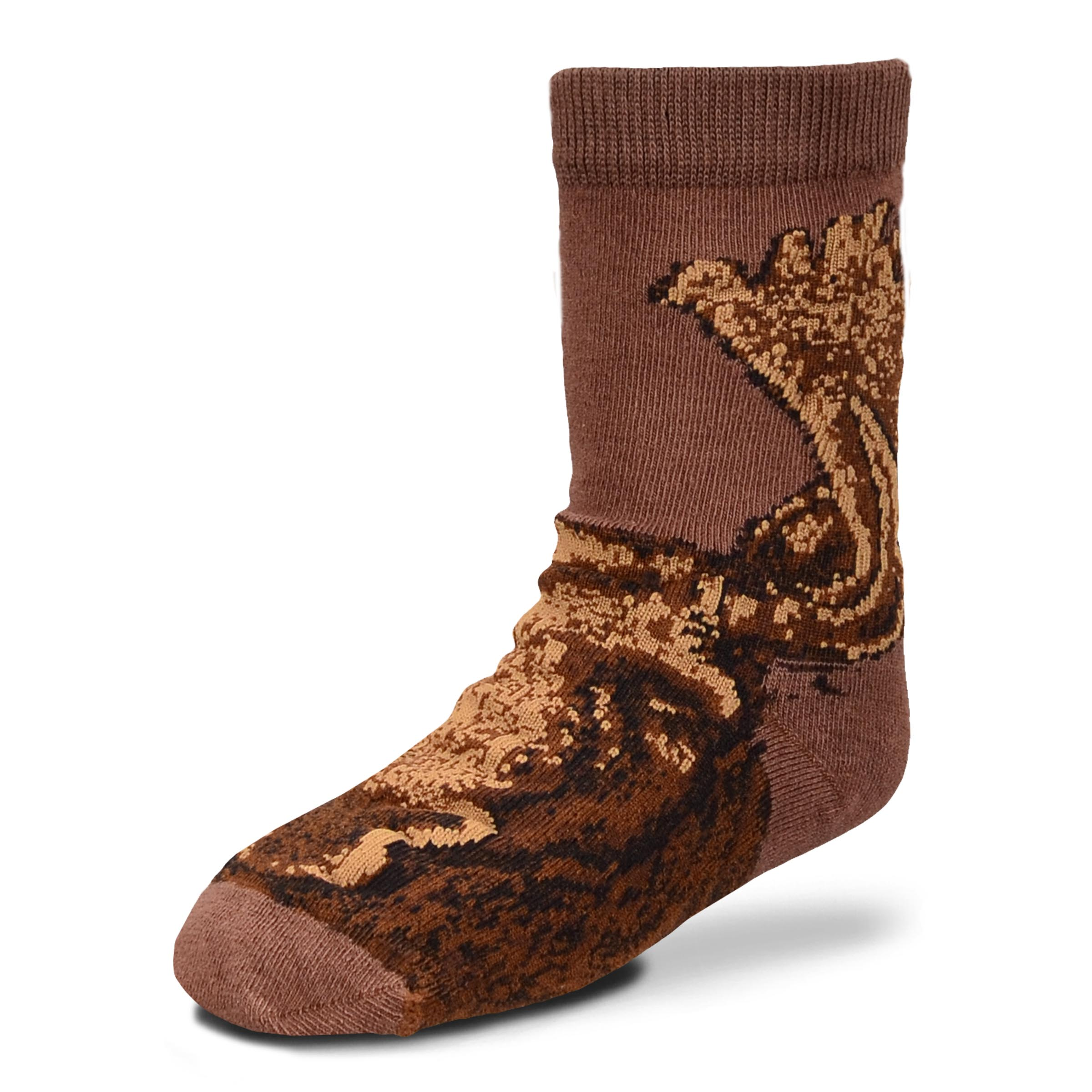 Brown Realistic Moose Socks - Infant