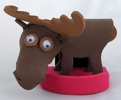 Foam Moose Magnet - Click Image to Close