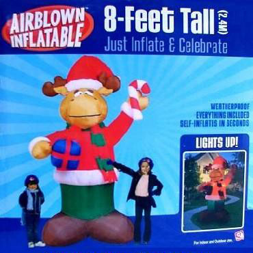 8 Foot Tall Inflatable Holiday Moose