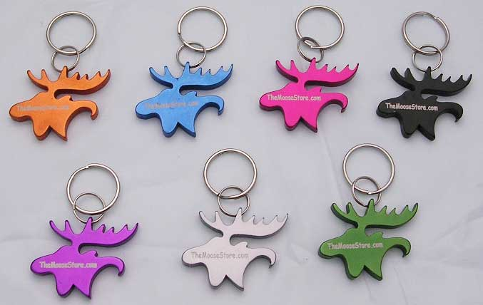 Moose Head Key Chain Bottle Opener - Orange
