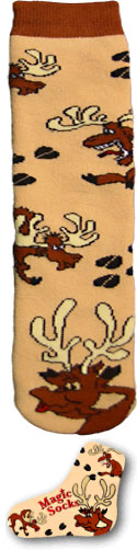 Brown Magic Moose Socks!