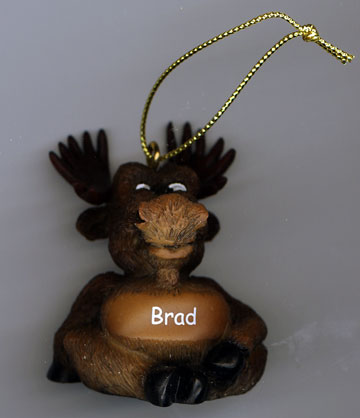 Personalized Holiday Moose Ornament - Click Image to Close