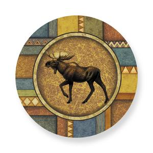 Woodland Moose Ceramic Plate