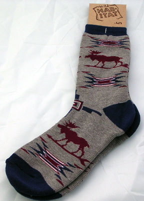 Spirit of the Moose Cushion Socks - Small