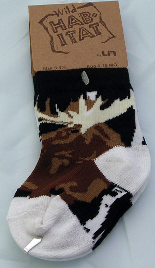 Moose in the Woods Socks - Small