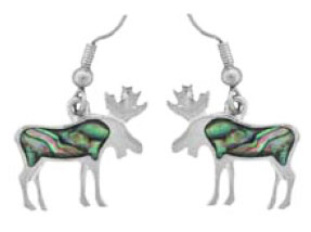 Sterling Silver Inlaid Dangle Earrings