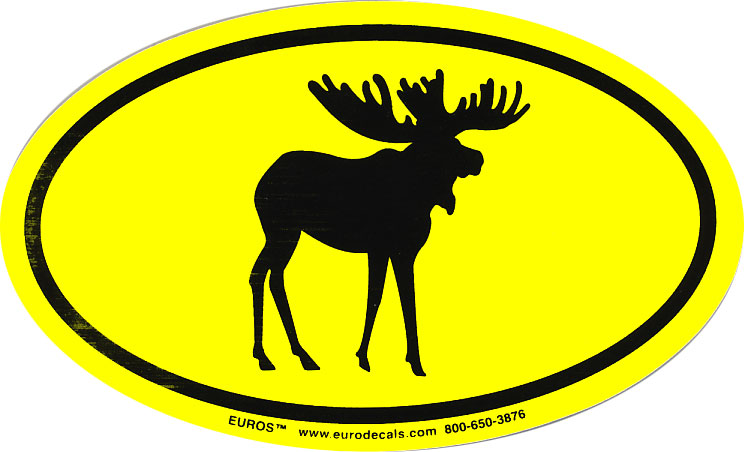 Yellow Moose Euro Decal
